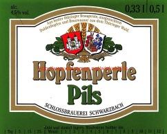 Hopfenperle Pils Schlossbrauerei Schwarzbach - Bière