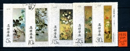 KOREA Del NORD - Year 1975 - COMPLET SET - Fiori - Flowers - Timbrati - Stamped. - Korea, North