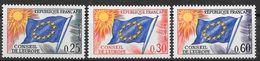Frankreich 1965 / MiNr.  10 - 12  Dienstmarken Für Den Europarat    ** / MNH   (o3880) - Service