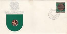 PAPUA NEW GUINEA SERIE MONETE CON ANNULLO PAPUA NUOVA GUINEA ANNO 1975 - Papuasia Nuova Guinea