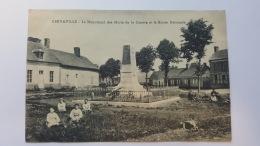 BERNAVILLE 80 LE MONUMENT DES MORTS DE LA GUERRE ET LA ROUTE NATIONALE SOMME CPA Animee Postcard - France