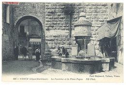 Cpa Vence - La Fontaine Et La Place Peyra       ((S.1758)) - Vence