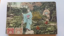 FEMME ASIE CPA Animee Postcard - Cartes Postales