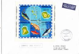 LETTRE COVER VANUATU - ECONOMIC ZONE - FISHING RESERVE - BLOC 1983 - Vanuatu (1980-...)