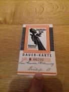 Very-rare-Dauer-Karte-1937-Dusseldorf-Reichsausstellung-Schaffendes-Volk - Historische Dokumente