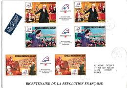 LETTRE COVER MADAGASCAR TANANARIVE - BICENTENAIRE DE LA REVOLUTION FRANCAISE - Franz. Revolution