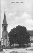 CARTE POSTALE ANCIENNE DE MARNAY  -  LA MAIRIE ET L'EGLISE - France
