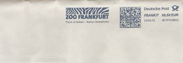 EMA RED METER STAMP ABSENDER FREISTEMPEL AFS ZEBRE ZEBRA  ZOO FRANKFUHRT TIERE ERLEBEN NATUR BEWAHREN DECOUVRIR ANIMAUX - Postzegels