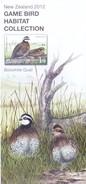 PHILATELIC BROCHURE / INFORMATION SHEET - NEW ZEALAND - 2012 - GAME BIRD HABITAT COLLECTION - MINT CONDITION, UNUSED - New Zealand