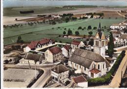 CPSM   En Avion Au Dessus De....GASTINS 77  L'église - Autres Communes
