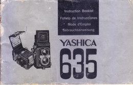 JAPAN - INSTRUCTION BOOKLET, USER MANUAL, REPAIR HANDBOOK - YASHICA 635 MODEL CAMERA - PHOTOGRAPHY THEME - Photography