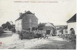 DAMPIERRE SUR SALON CHAMP DE FOIRE ET ROUTE DE VAITE TRES BELLE ANIMATION CARTE RARE INEDITE 1915 EDIT. A. DUPOISOT - Frankreich