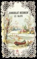 CHROMO Chocolat BESNIER  Barque Au Bord De L'eau Dentelée 1 - Chocolat