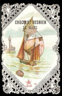 CHROMO Chocolat BESNIER  Voilier Et Phare Dentelée 1 - Chocolat