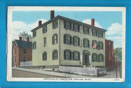 C.P.M. Birthplace Of Longfellow - Portland - Maine - Portland