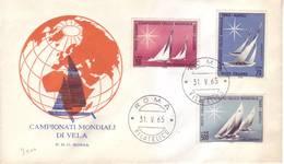 Italia 1965 - FDC Mondiali Di Vela - 6. 1946-.. Repubblica