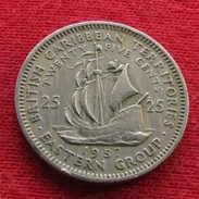 British Caribbean Territories 25 Cents 1957 KM# 6  Caraibas Caraibes Orientales - East Caribbean States