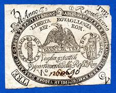 Italy - Papal States / Stato Pontificio 3 Bajocchi Repubblica Romana Anno 7 (1798) R2 PS531 QBB - Altri