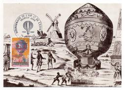 CARTE MAXIMUM - BICENTENAIRE DE L'AIR ET DE L'ESPACE - PILATRE DE ROZIER - TAMPON PREMIER JOUR A LE BOURGET - 1983 - - Cartas Máxima