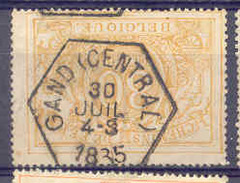 K950 Belgie Spoorwegen Met Stempel GAND (CENTRAL) - 1895-1913