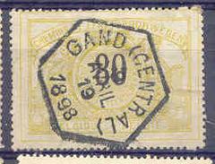 K951 Belgie Spoorwegen Met Stempel GAND (CENTRAL) 6-HOEK - 1895-1913