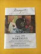 2835 - Exposition Braque 1992 Nature Morte Au Pichet  Fondation Gianadda Martigny  2 étiquettes - Art