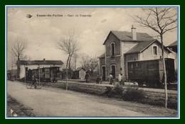 CPA Usson Du Poitou Gare Du Tramway Voy 1923 (manque TP) - Frankreich