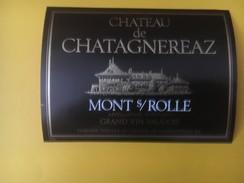 2844 - Suisse Vaud Château De Chatagnereaz Mont-sur-Rolle - Etiquettes