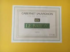 2846 - Cabernet Sauvignon Le Baron 1991 - Vin De Pays D'Oc