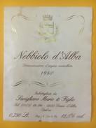 2849 - Italie Nebbiolo D'Alba 1980 - Etiquettes