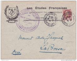 ENVELOPPE RÉUTILISÉE ( DEVANT ) PETAIN N°517  - LABOSSE OISE - BLOIS LOIRE ET CHER - Marcophilie (Lettres)