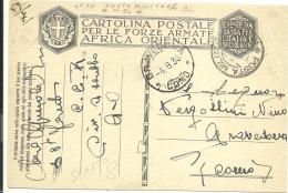 Afrique Orientale Italienne 1936   , Poste Militaire N° 84 (68/69) - Timbres