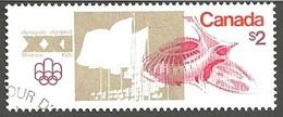 Sc. #688 Olympic Sites, Olympics Stadium, Montreal 1976 Used K190 - 1952-.... Règne D'Elizabeth II