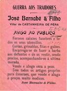 Advertising :: José Bernabé & Filho :: Villar De Castanheira De Pêra :: Artigos Funebres :: Holed - Publicités