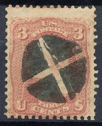 Stamp Us 1861 Scott#65 Washington 3c  Fancy Cancel Used Lot#56 - Oblitérés
