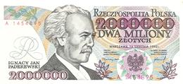 Poland - Pick 158a - 2.000.000 (2000000) Zlotych 1992 - Unc - Pologne