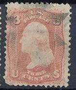 Stamp Us 1861 Scott#65 Washington 3c  Fancy Cancel Used Lot#74 - Used Stamps