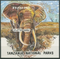 Tansania 1993 Nationalparks Elefant Block 228 Postfrisch (C23621) - Tansania (1964-...)