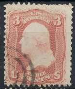 Stamp Us 1861 Scott#65 Washington 3c  Used Lot#81 - Gebruikt