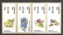 Irland Eire Ireland 2010 Wild Flowers Wildblumen Stamps ATM Label Michel No.9-12 Self Adhesive Selbstkl. MNH Postfr.neuf - Vignettes D'affranchissement (Frama)