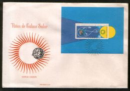 Astronomy Cuba 1965 FDC Cover International Year Of The Active Sun, Block - Astronomie