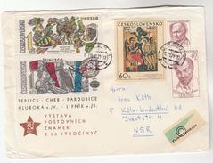 1971 CZECHOSLOVAKIA COVER Stamps UNESCO FEMALE NUDE, ART  Un United Nations - Czechoslovakia
