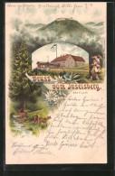 Lithographie Inselberg, Preussischer Gasthof, Blick Auf Den Berg - Germania