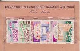 1-Francobolli Liberia-Esposizione Filatelica Internazionale-Serie Completa 6 Valori Usati - Liberia
