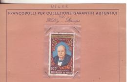 1-Francobollo Niger-Omaggio A Winston Churchill-100 Franchi-Serie Completa 1 Valore Usato - Niger (1960-...)