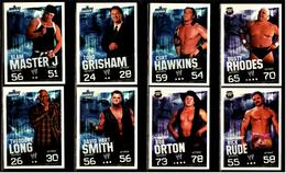 8 X Sammel-Karte / Trading Cards  -  WWE Wrestling  -  Slam Attax Evolution  -  Von Ca. 2008 / 2010   (9) - Sammelbilder, Sticker