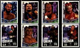 8 X Sammel-Karte / Trading Cards  -  WWE Wrestling  -  Slam Attax Evolution  -  Von Ca. 2008 / 2010   (5) - Sammelbilder, Sticker