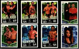 8 X Sammel-Karte / Trading Cards  -  WWE Wrestling  -  Slam Attax Evolution  -  Von Ca. 2008 / 2010   (18) - Sammelbilder, Sticker