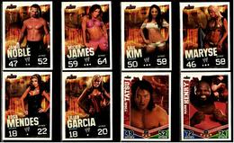 8 X Sammel-Karte / Trading Cards  -  WWE Wrestling  -  Slam Attax Evolution  -  Von Ca. 2008 / 2010   (16) - Sammelbilder, Sticker