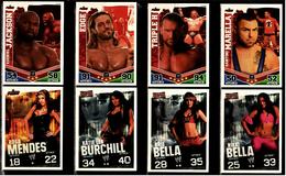 8 X Sammel-Karte / Trading Cards  -  WWE Wrestling  -  Slam Attax Evolution  -  Von Ca. 2008 / 2010   (11) - Sonstige